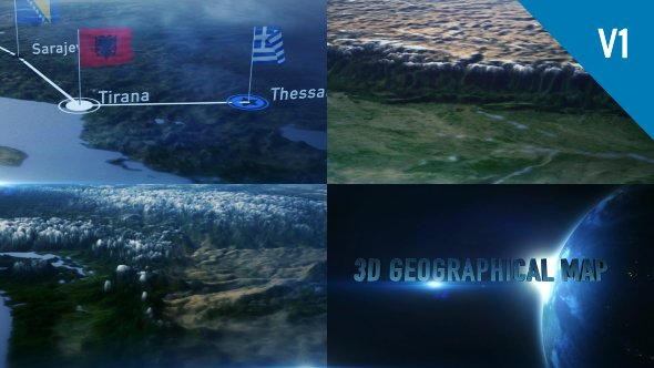 Videohive 3D Geographical Map 19114981