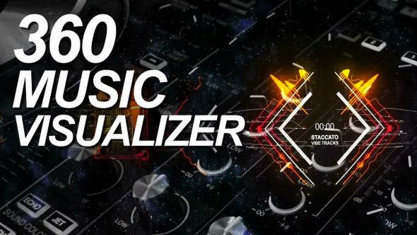 360 Music Visualizer After Effects Template