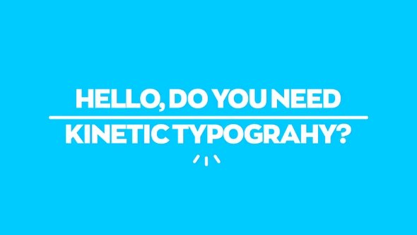 Clean Kinetic Typography After Effects Template