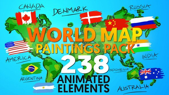 Videohive world map paintings pack 12070408 sharevfx videohive world map paintings pack 12070408 gumiabroncs Images