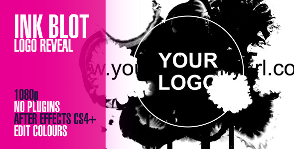 Videohive Ink Blot Logo Reveal 3129598