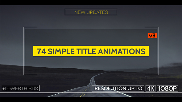 Videohive Simple Titles - v3 15682467