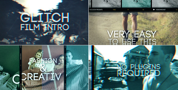 Videohive Glitch Film Intro 10898983