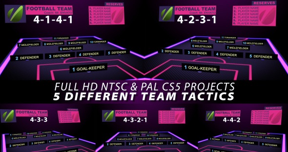 Videohive Football Team Tactics 2795537