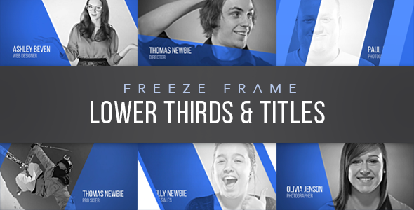 Videohive Freeze Frame Lower Thirds 17275098