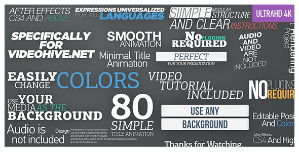 Videohive 80 Simple Title Animations 9256185
