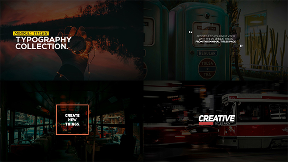Videohive Animated Typography Pack 19574198
