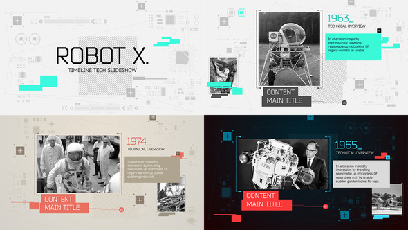 Videohive Robot X. Timeline Slideshow 15994369