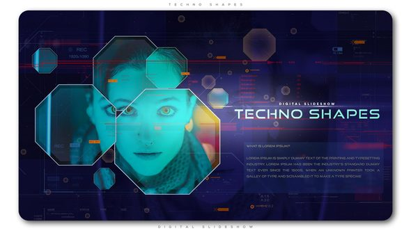 Videohive Techno Shapes Digital Slideshow 21702006