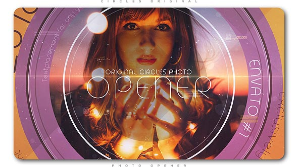 Videohive Circles Original Photo Opener 21083036