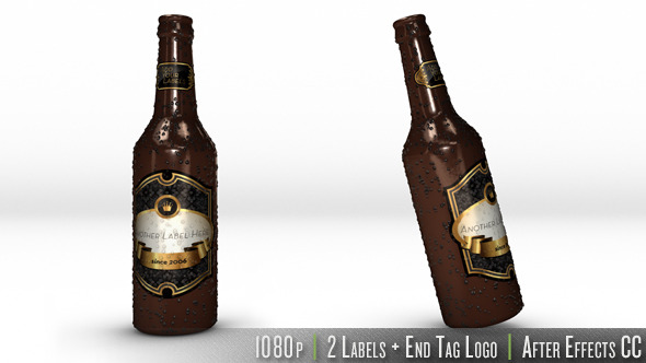 Videohive Personalized Bottle of Beer 7039633