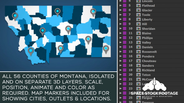 Videohive Montana Map Kit 20871687