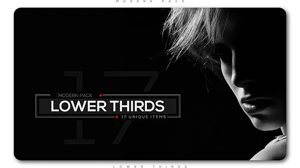 Videohive Modern Lower Thirds Pack 20876714