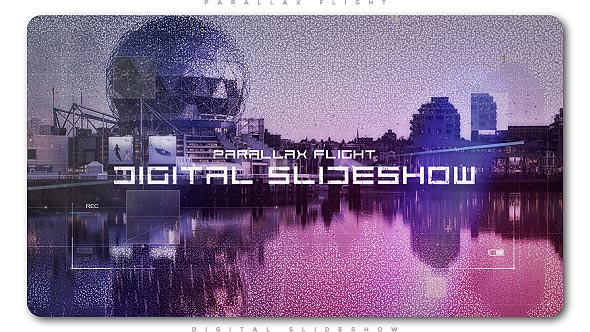 Videohive Digital Flight Parallax Slideshow 21081254