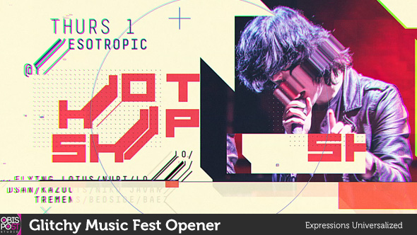 Videohive Glitchy Music Fest Opener 19167805