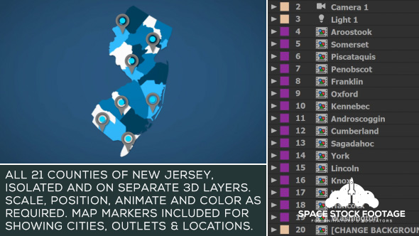 Videohive New Jersey Map Kit 20790500