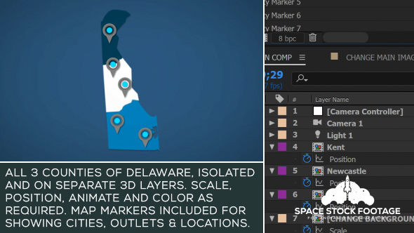 Videohive Delaware Map Kit 20875822