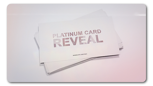 Videohive Platinum Card Reveal 19324804