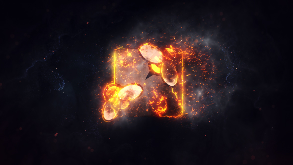 Videohive Burning Fire Logo 21370383