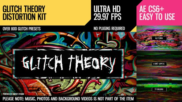 Videohive Glitch Theory (UltraHD Distortion Kit) 14887258
