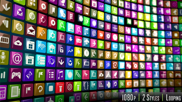 Videohive Endless Smart Phone Apps Icons 14522983