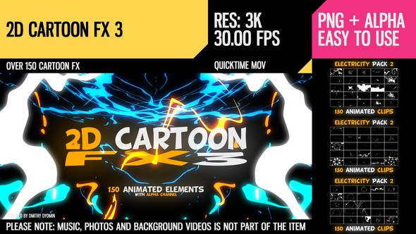 Videohive 2D Cartoon FX 3 10018736