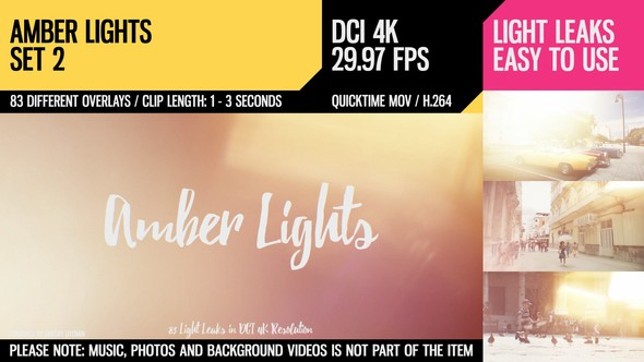 Videohive Amber Lights (4K Set 2) 21265146