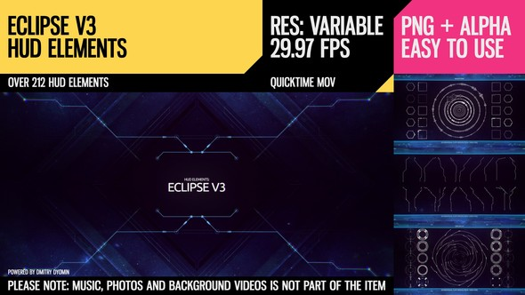 Videohive Eclipse V3 HUD Elements 11860048
