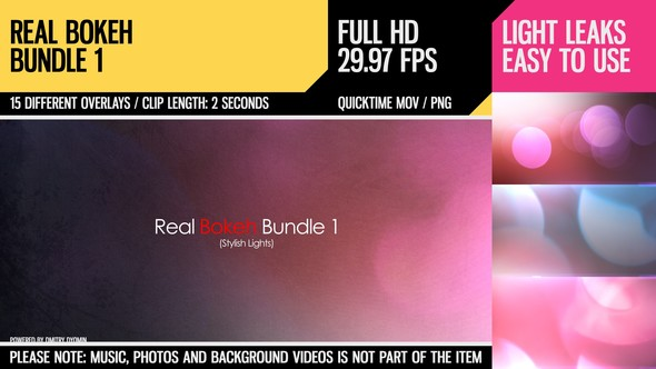 Videohive Real Bokeh Bundle 1 (Stylish Lights) 4568672