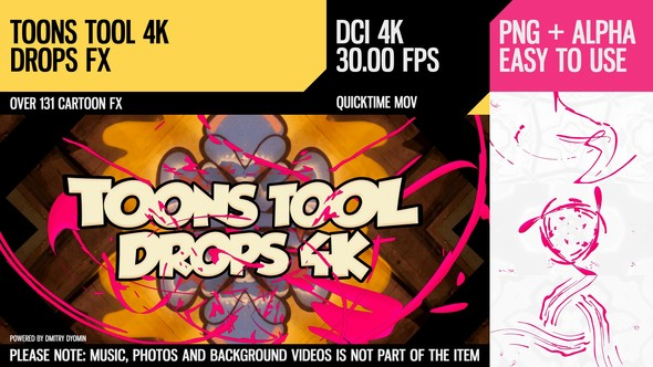 Videohive Toons Tool 4K (Drops FX) 21100274