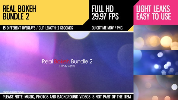 Videohive Real Bokeh Bundle 2 (Trendy Lights) 4600681