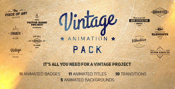 Videohive Vintage Animation Pack 10050370