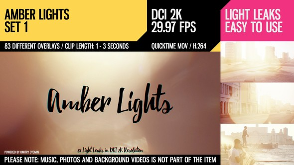 Videohive Amber Lights (HD Set 1) 21283283