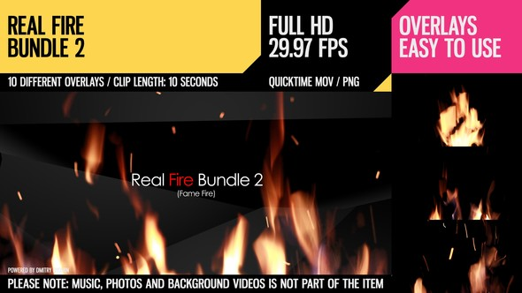 Videohive Real Fire Bundle 2 6781988