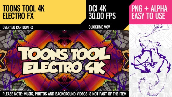 Videohive Toons Tool 4K (Electro FX) 21100283