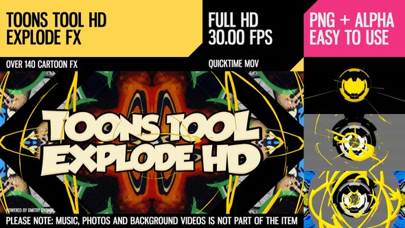 Videohive Toons Tool HD (Explode FX) 21202467