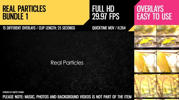 Videohive Real Particles Bundle 1 (Soft Particles) 3285313