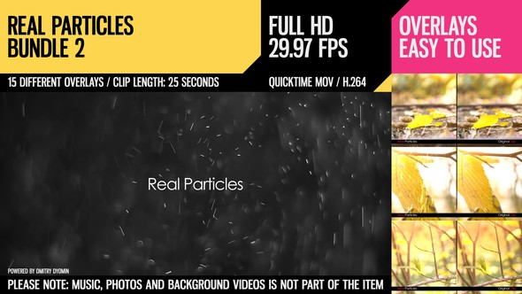 Videohive Real Particles Bundle 2 (Heavy Particles) 3285458