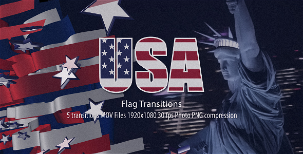 Videohive USA Flag Transitions 21486417