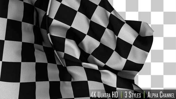 Videohive Checkered Flag Racing Transition 4K 19882442