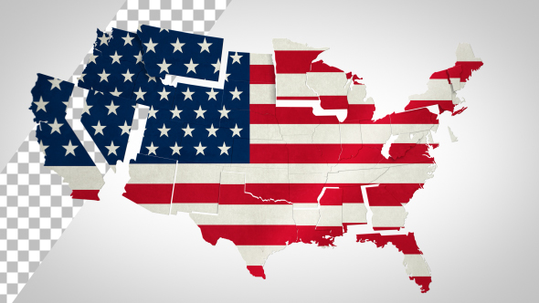 Videohive USA Map - States Combine 14593027