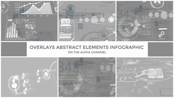 Videohive Overlays Abstract Elements Infographic 17800033