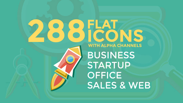 Videohive Business & Startup Flat Icons 16086748
