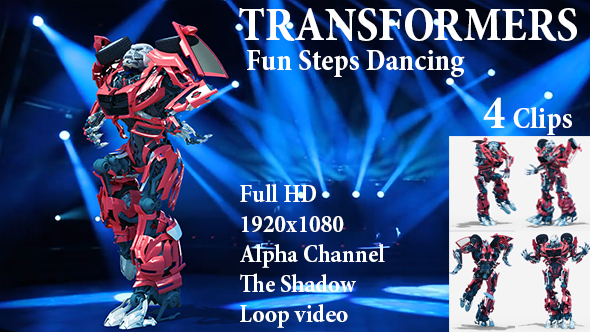 Videohive Fun Steps Dancing Robot 21475225