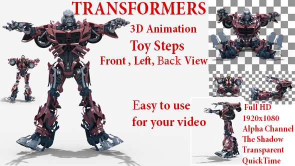 Videohive Toy Transformer Steps 21344388