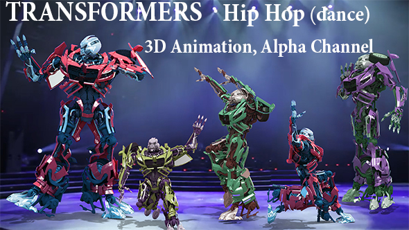 Videohive Dancing Transformers Hip Hop 21338519