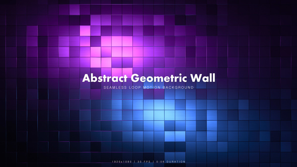 Videohive Abstract Geometric Wall 4 21464312