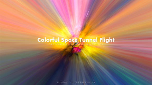 Videohive Colorful Space Tunnel Flight 11 20074783