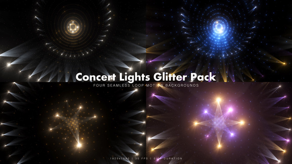 Videohive Concert Lights Glitter Pack 4 15429397