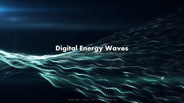 Videohive Digital Energy Waves 8891793
